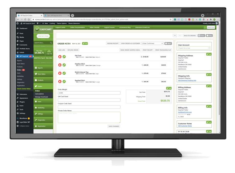 wordpress ecommerce management